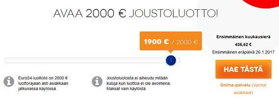 Euro24.fi lanalaskuri