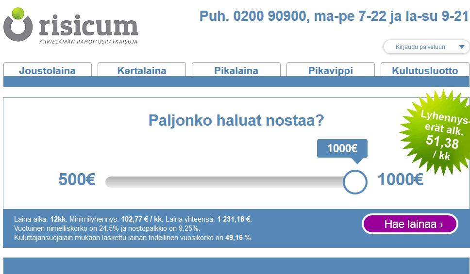 20 euroa lainaa