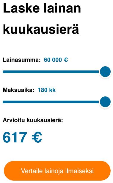 VertaaEnsin.fi Lainalaskuri