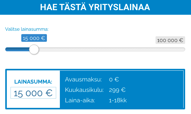 Suomenyrityslaina.fi Lainalaskuri